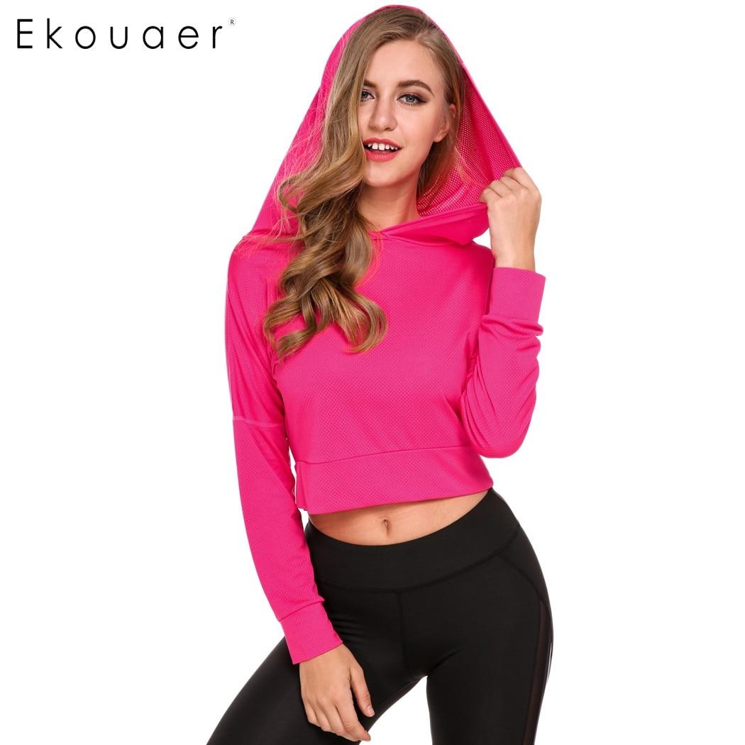 Ekuaer Fitness Hooded Γυναικεία Πουκάμισα 2018 - Αθλητικά είδη και αξεσουάρ - Φωτογραφία 2