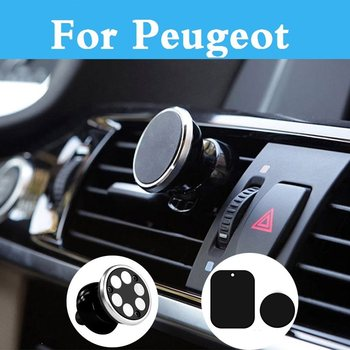 Magnetic Car Phone Holder Stand For Iphone Samsung Air Vent Gps For Peugeot 301 307 3008 1007 107 108 2008 206 207 208 208 Gti image
