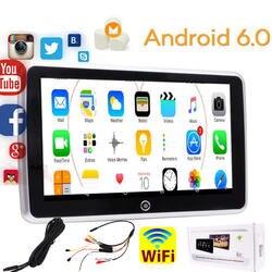 10,1 дюймов Автомобильная Подушка подголовник монитор Android 6,0 HD 1366*768 емкостный сенсорный экран автомобильный 1080 P видео плеер HDMI сенсорный