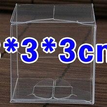 100 шт. 3*3*3 см Прозрачные водонепроницаемые ясно, коробки из ПВХ упаковка маленькая пластиковая коробочка для хранения продуктов питания /Ювелирные изделия/Конфеты/подарок/косметика