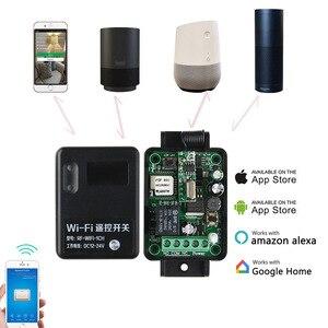 Image 2 - APP Wifi التبديل 1CH تيار مستمر 7 36 فولت 10A التتابع وحدة الاستقبال 433 ميجا هرتز العالمي اللاسلكية مفتاح بالتحكم عن بعد ل المرآب البعيد KTNNKG
