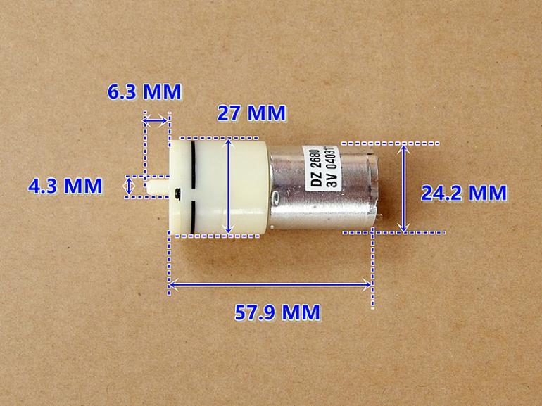 2pcs New Dc 3v Small Motor Mini Air Pump Oxygen Pump For
