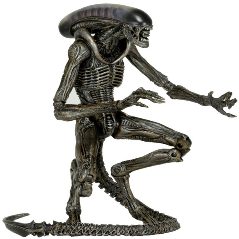 Aliens Xenomorph Warrior Action Figure Toy Aliens 3 Series 8 Dog PVC with Box 7'' 18CM Toys for Children Xmas Children boy Gift lps toy pet shop cute beach coconut trees and crabs action figure pvc lps toys for children birthday christmas gift