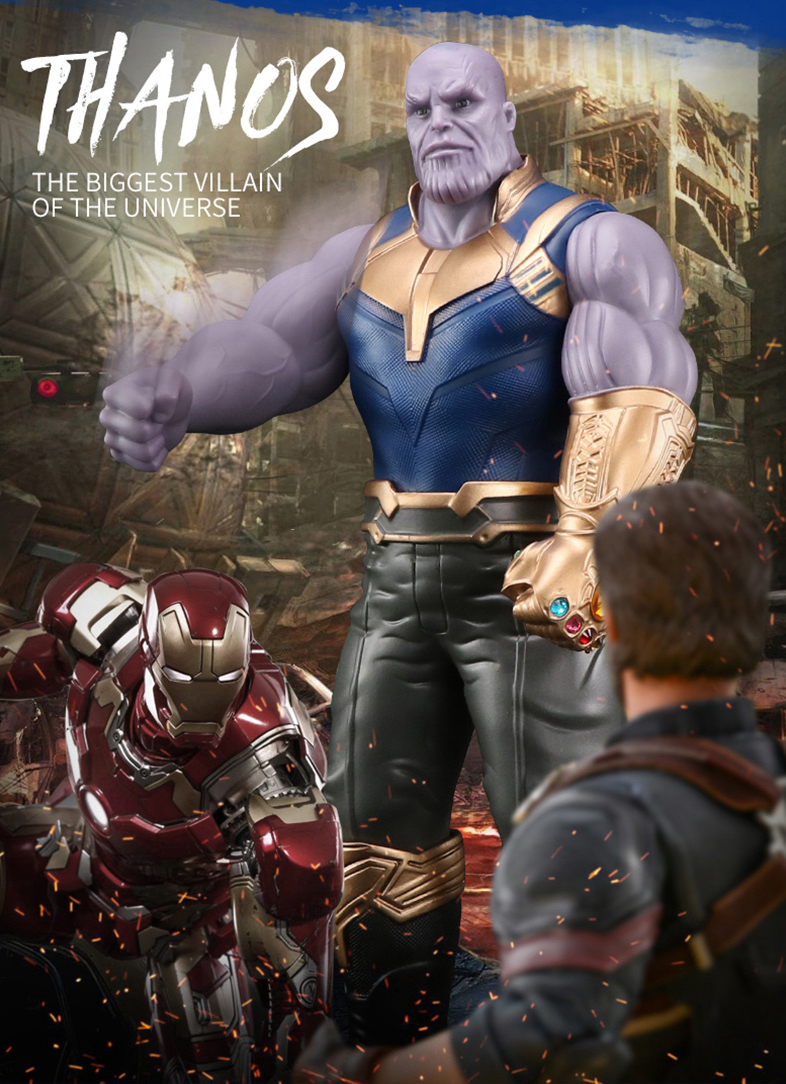 Thanos Figure Infinity Gauntlet Infinity stone Avengers Hulk 32CM PVC Toys Action Figure Model TOY
