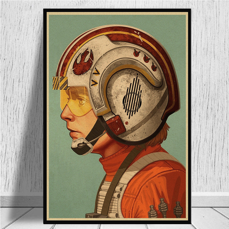 Image 5 - The profile of Star Wars characters Posters home decor kraft paper Painting wall stickers-in Wall Stickers from Home & Garden