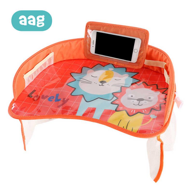 AAG портативный водонепроницаемый Настольный подлокотник для сидения автомобиля для хранения детской игрушки контейнер для еды детский столик для еды в автомобиле аксессуары забор для детей 25