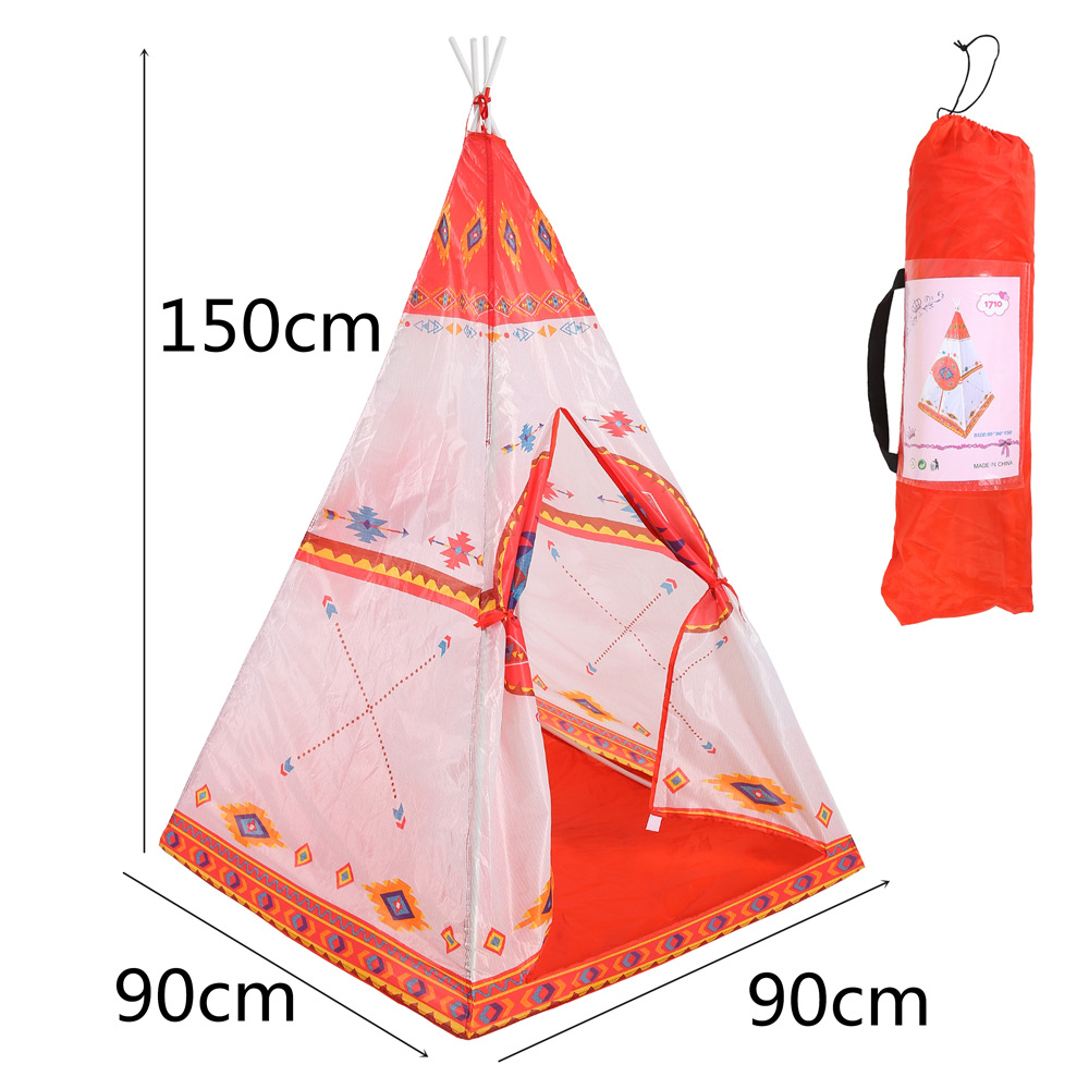 YARD Pink Castle Princess Kids Play Tent Indian Tents for Children Portable Folding Tent Teepee Outdoor Tent Camping Playhouse 1pcs children tent natural indian pattern unisex children toy tent cloth teepees safety portable indoor camping game playhouse