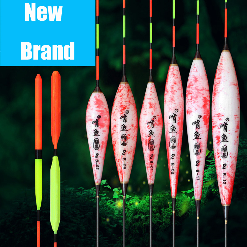 6pcs/lot Exquisite Fishing Float Bobber Buoy Elegance Design Balsa Light Wood Available Float Fishing Tackle Tool Gifts