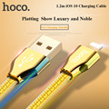 HOCO 5V 2.4A 1.2m Wire Golden Jelly Braided 8Pin Lighting USB Data Sync Charging Cable For iPhone 7 6 6S Plus 5 5s SE iPad iOS10