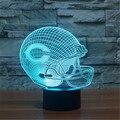RGB toque LEVOU Lâmpada de Mesa Azeitonas cap Bola C Capacete crianças Quarto 7 Cores 3D Luz Da Noite do Dia Dos Namorados Aniversário Gift-3D-TD223