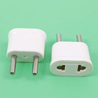 YuXi Travel Charger Wall AC Power Plug Adapter Converter US USA to EU Europe Portable Universal Electronics Plugs Adaptors