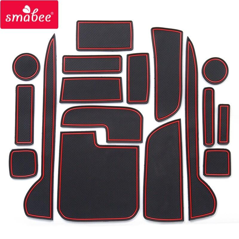 Smabee tor slot pad Für HONDA JP N-WGN JH1 JH2 2013-2016 Tür Nut Matte Anti Slip PVC ROT WEIß SCHWARZ