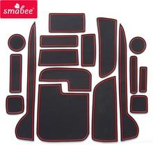 smabee gate slot pad For HONDA JP N-WGN JH1 JH2 2013-2016 Door Groove Mat  Anti Slip PVC RED WHITE BLACK