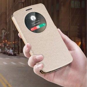 Image 1 - شاهد نافذة الجلود حقيبة لجهاز LG G3 G4 لينة غطاء حقيبة غطاء الوجه الفاخرة ل LG G3 D855 D850/G4 H818 H815 F500 غطاء الهاتف Funda