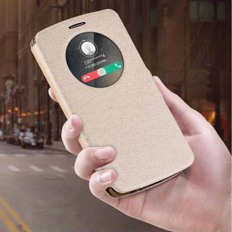 VIew Window Leather Case for LG G3 G4 Soft Bag Cover Luxury Flip Cover for LG G3 D855 D850 / G4 H818 H815 F500 Phone Cover Funda image