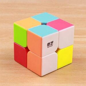 Image 2 - Qiyi qidi 2X2X2マジックスピードポケットキューブラベルなしパズルプロキューブ2 × 2キューブ教育おかしいのおもちゃ子供