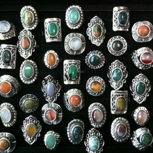 Vintage Adjustable Natural Stone Rings High Quality Fashion Jewelry Wholesale