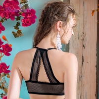 Realwill Sexy Seamless Push Up Bras Front Closure Type Lace Racerback Bra Wirefree Wireless Bralette Bra