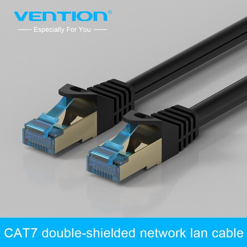 Vention Cat 7 Ethernet LAN Сетевой кабель 1 м 1.5 м 2 м 3 м 5 м Cat7 RJ45 двойной экранированный кабель для маршрутизатора компьютерный кабель ethernet