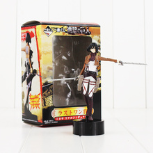 14cm Attack on Titan Figure Toy Mikasa Ackerman With Weapon Anime Model Doll for Children