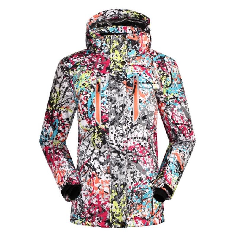 2018 winter new ladies ski suit outdoor sports single and double board camouflage ski jacket ladies warm windproof coat2018 winter new ladies ski suit outdoor sports single and double board camouflage ski jacket ladies warm windproof coat