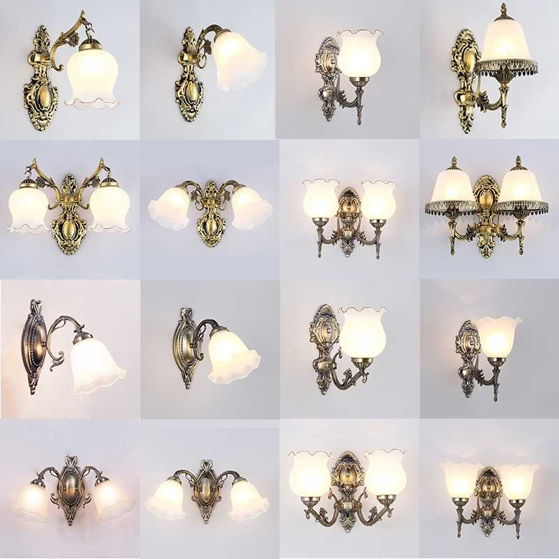 2018 New arrival sconce Hot sale wall lamp genuine zinc vintage wall light handmade high quality novelty bathroom light