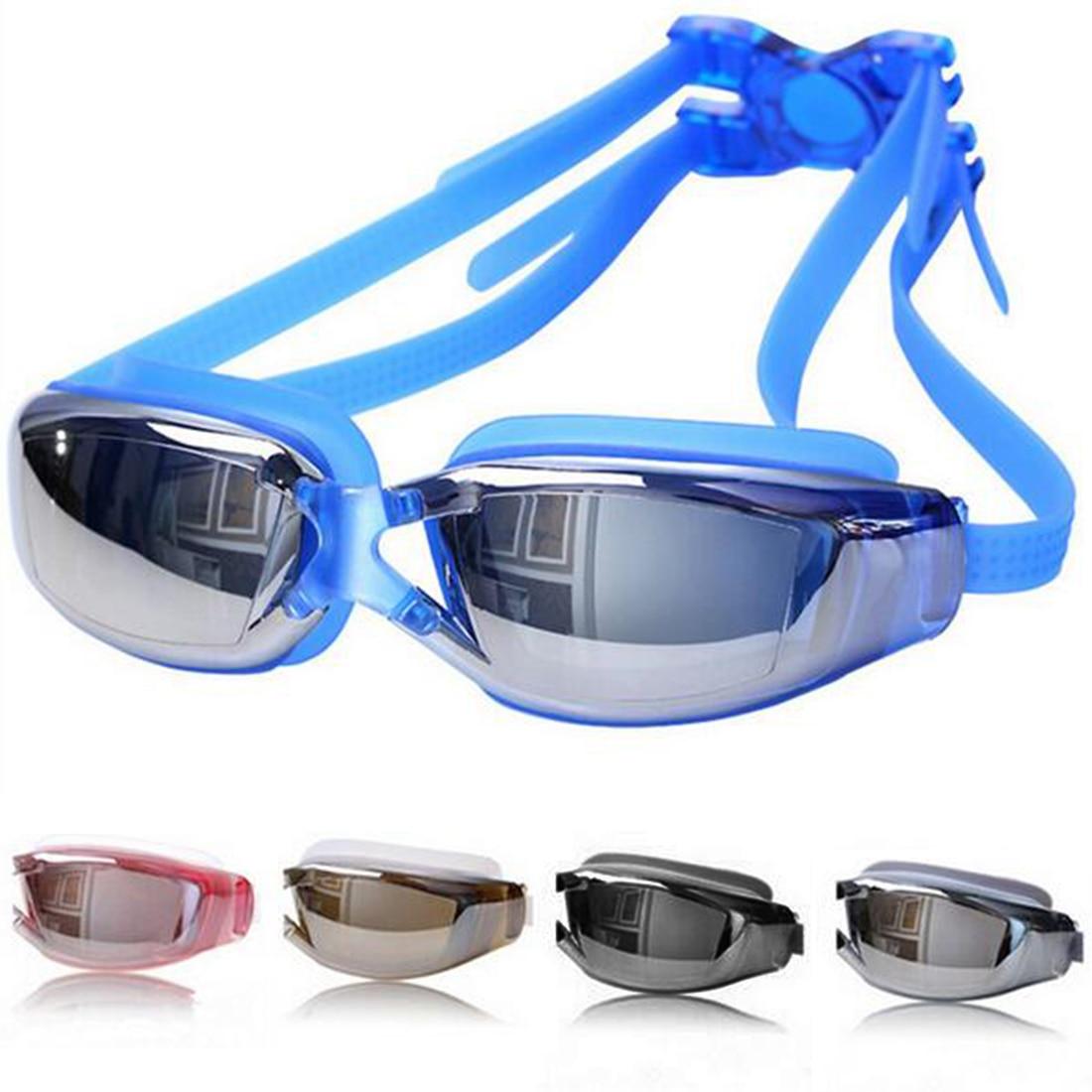 Marca Nueva Hombres Mujeres Protección UV Antivaho Gafas de Natación Profesional