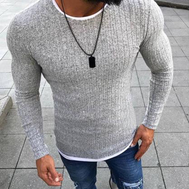Winter Men 2018 New Fashion Pullover Knitted Sweater O-neck Casual Long Sleeve Warm Pullovers Male Sweaters Big size clothes(China)