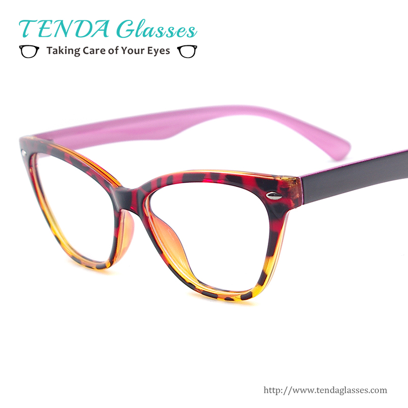 Lightweight Plastic Frame Glasses : Fashion Women Cat Eye Glasses Lightweight Plastic Eyewear ...