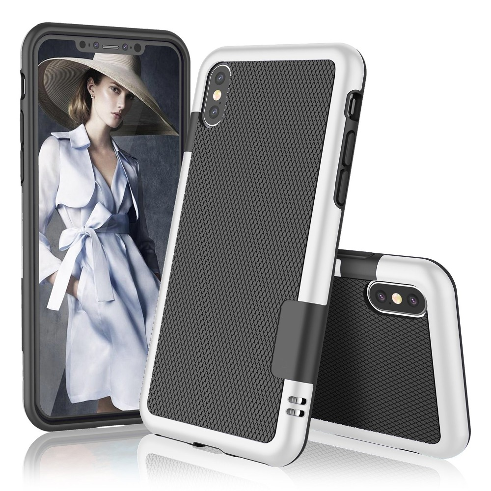 HTB1s7M3RwHqK1RjSZJnq6zNLpXaT Ultra Slim 3 Color Hybrid Anti-slip Shockproof Phone Case for iphone X XS MAX XR Soft TPU Silicon Cover For iphone 7 8 6 6S Plus
