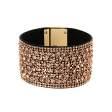 ORNAPEADIA New Hot Jewelry Pop Bohemia bracelet Magazine big brand light luxury gem Leather Bangles for women gift wholesales