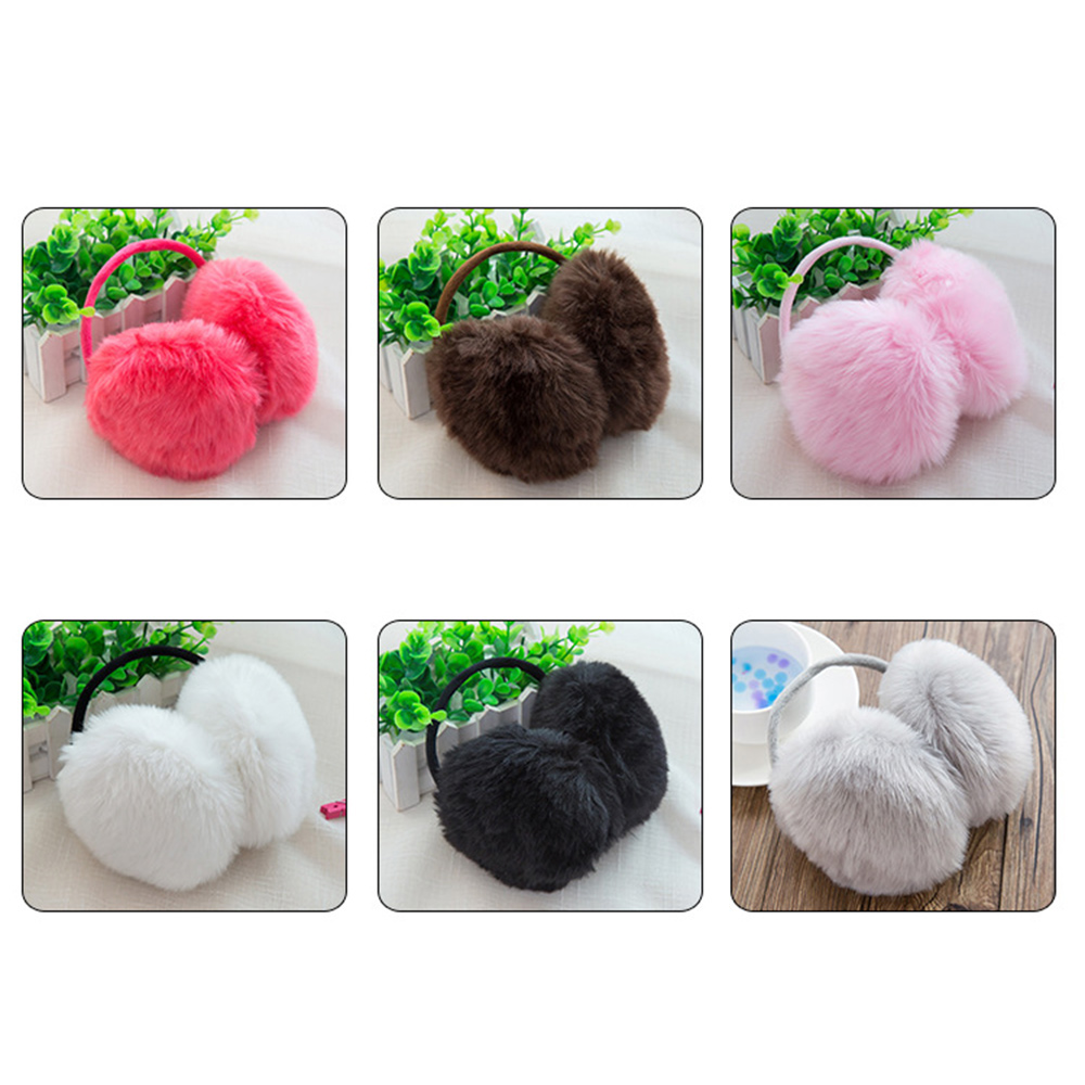 Ear Muffs Earmuffs Women Multifunctional Warmer Winter Keep Warm Cute Fashional Pure Plush Faux Rabbit Fur Female Ear Cover