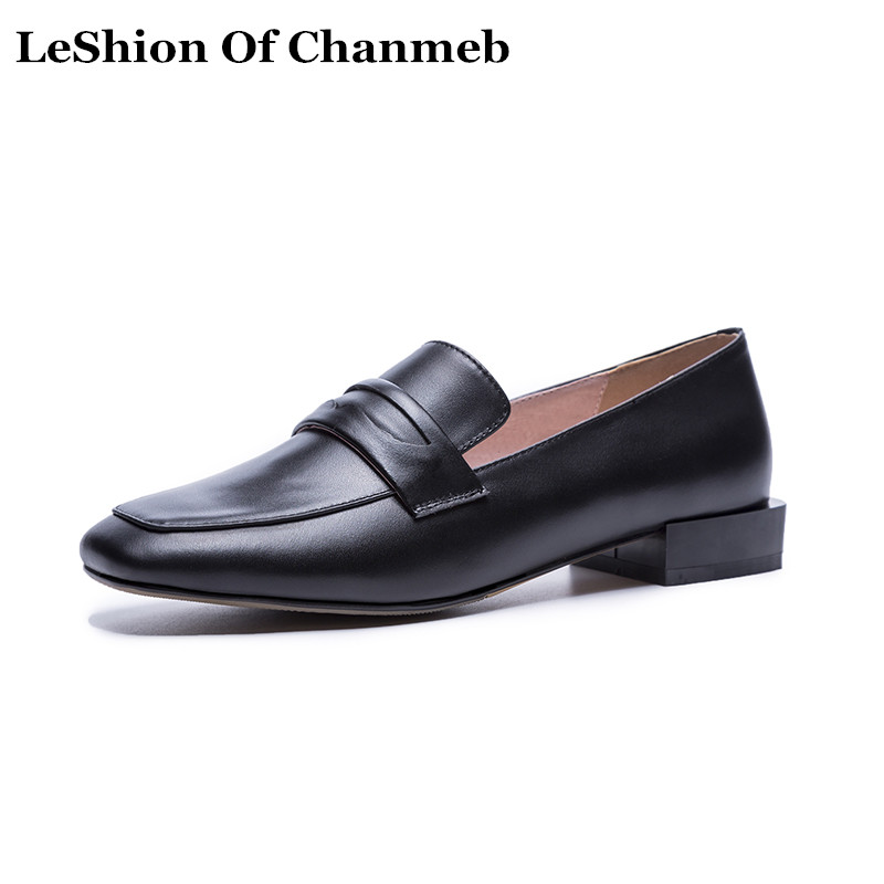 Slip Cuir 2019 Appartements Black Chaussures Penny Taille Noir Femmes Nouveau Mocassins brown Réel Loafers Ons Printemps Loafers nude Nude Robe Loafers En 43 Dames 34 De Creeper Grand wtBqC6tr
