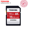 TOSHIBA SD Memory Card 90MB/s 16GB SDHC Card UHS U1 SD Card Class10 Flash Memory Card For Canon Nikon SLR Camera 4K Video DV