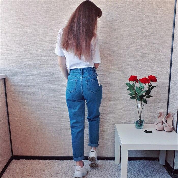 Dunayskiy Autumn jeans women Fashionable Blue High Waist Loose Denim Jeans Female Harem Pants Trousers boyfriend jeans for women 5