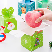 DL Christmas Eve Apple packing box Christmas gift large box safe fruit carton children gift candy(China)