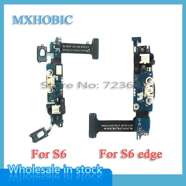 10 pcs USB מטען טעינת נמל Flex כבל לסמסונג גלקסי S6 קצה בתוספת G920F G925F G9250 G928F Dock מחבר אודיו ג ק