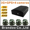 Brazil hot sale 3G mobile DVR complete kit, with 4pcs AHD CAR CAMERA