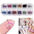 3000pcs Multi-Color Nail Art Rhinestones Glitters Decorations 1.5mm Round Nail Studs Tips Decals DIY Decorations With Hard Case