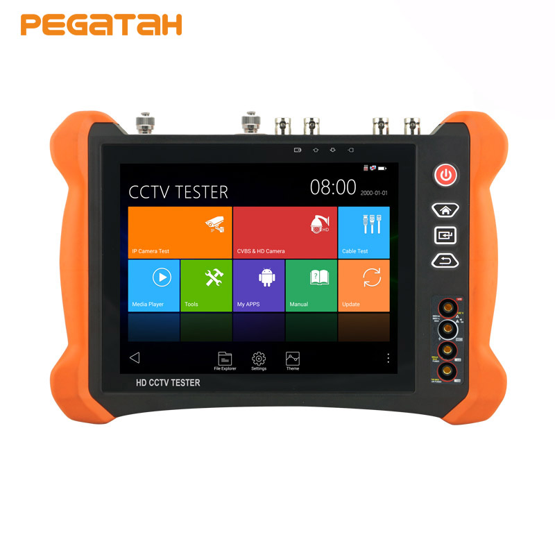 8 inch 4K 8MP IP CCTV Camera Tester Touch screen CVBS TVI CVI AHD SDI IP tester with OPM,TDR test ,Multimeter CCTV tester 7inch capacitive touch screen ips lcd test monitor with touch analog ip ahd cvi tvi sdi camera tester