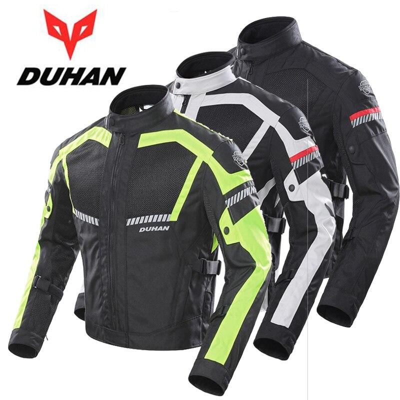 2019 Новый Духан Лето сетки мотоциклетная куртка Светоотражающие дышащие мотоциклетные куртки из ткани Оксфорд 600D CE защитное снаряжение