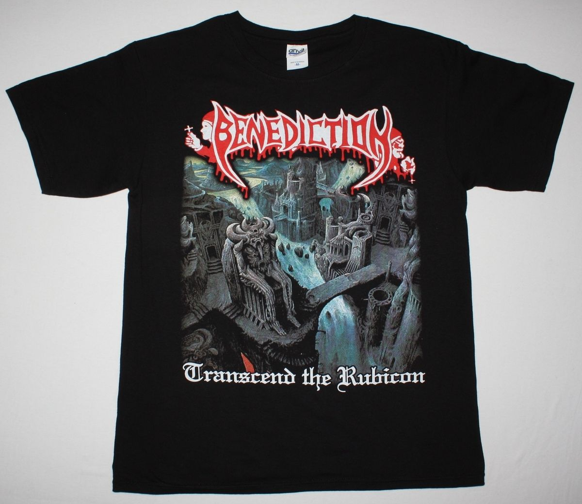 BENEDICTION TRANSCEND THE RUBICON DISMEMBER DEATH METAL NEW BLACK T-SHIRT T Shirt Casual ...