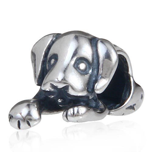 Authentic 925 Sterling Silver Pug Dog Charms Diy Jewelry