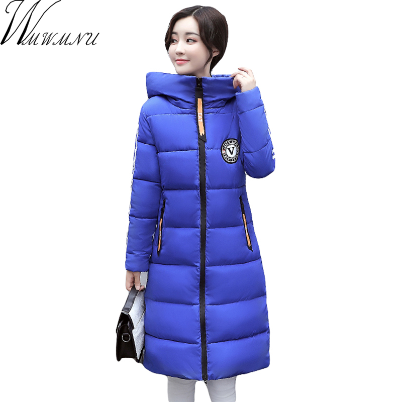 New Winter jacket Women 2017 Warm High Quality Quilting Parkas With Hood Pockets Winter Women Coat Outwear winter jacket ls080 tfmln 2017 new warm women parkas down cotton jacket hooded coat woman outwear clothes winter high quality jacket with pockets
