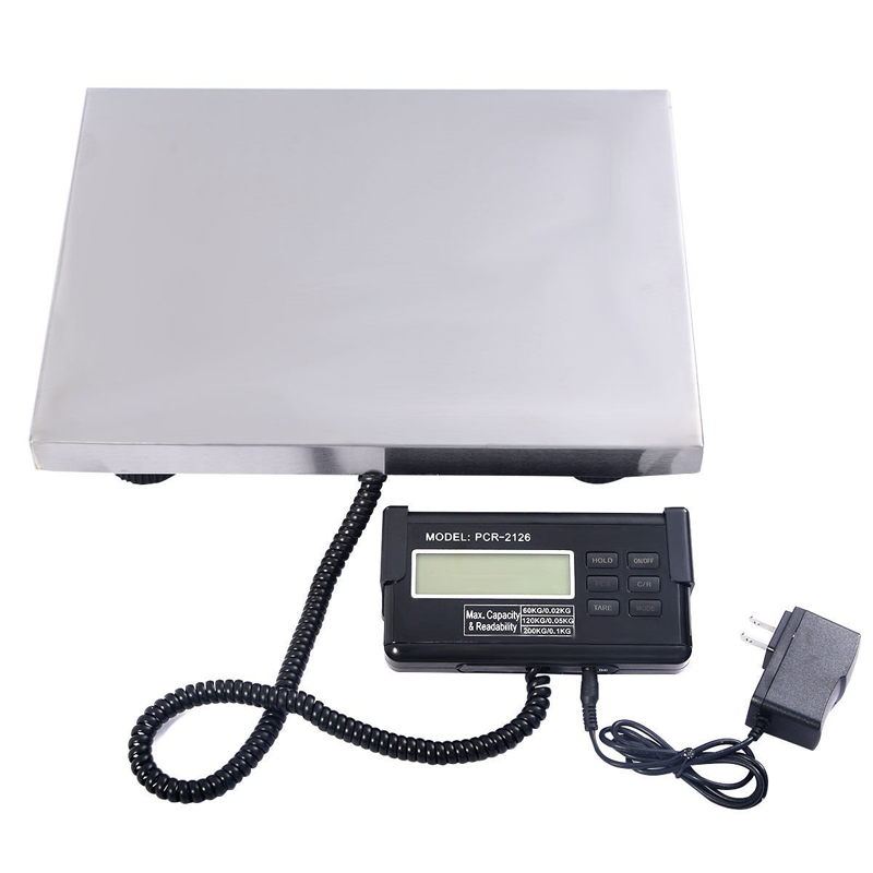 660LB 300KG Heavy Duty Industrial Shipping Postal Scale Platform Bench Digital Scale Floor Scale Durable Stainless