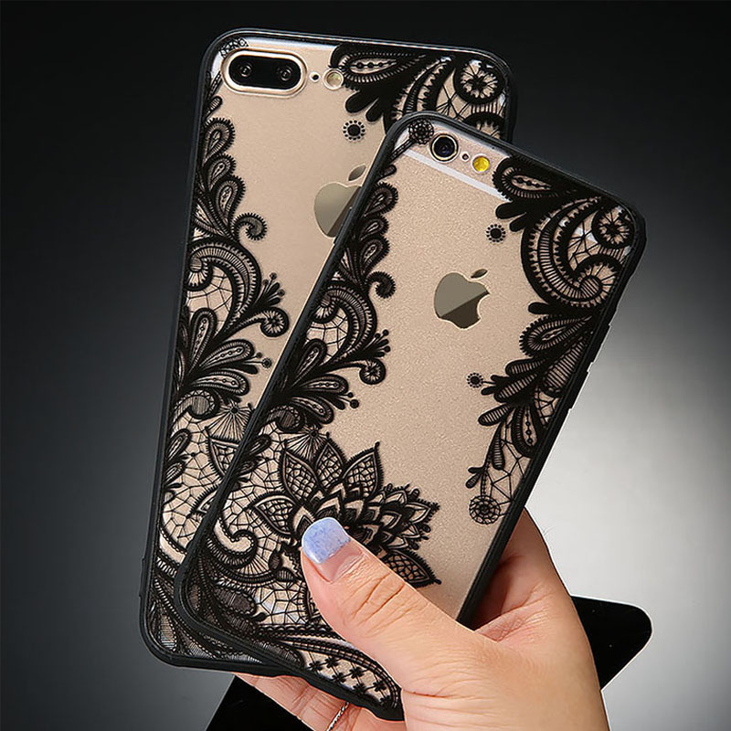 <font><b>Sexy</b></font> Lace Floral <font><b>Phone</b></font> <font><b>Cases</b></font> For iPhone 7 6 6s Plus Funda Retro Paisley Flower Cover For <font><b>Samsung</b></font> Galaxy S7 S6 edge S8 Plus <font><b>Case</b></font>
