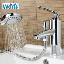 Смеситель для ванной комнаты weyuu с душевой лейкой водопроводный