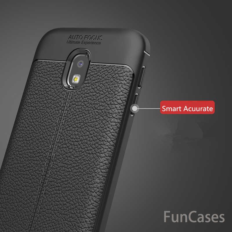 Weiche Leder TPU Abdeckung für Samsung Galaxy J3 2017 Fall Leder Original Carbon Coque für Samsung Galaxy J3 2017 Silikon abdeckung