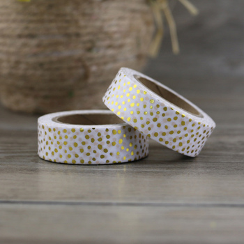 NEW 1X christmas golden foil washi paper tape dot tape/15mm*10m