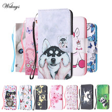 Cartoon Dog Owl Case For Coque Motorola Moto X4 Case Flip PU Leather Back Cover For Moto X4 X 4 Case Cover Phone Case Fundas pudini wb moto x protective plastic back case for moto x phone purple red